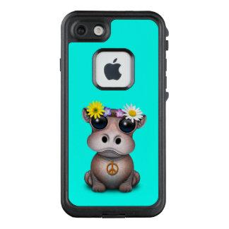 Funda FRÄ' De LifeProof Para iPhone 7 Hippie lindo del hipopótamo del bebé