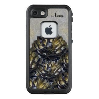 Funda FRÄ' De LifeProof Para iPhone 7 Indirecta del monograma de la caja floral amarilla