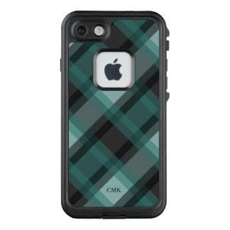 Funda FRÄ' De LifeProof Para iPhone 7 Iniciales del personalizado de la tela escocesa