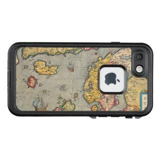 Funda FRÄ' De LifeProof Para iPhone 7 Mapa del vintage de Escandinavia