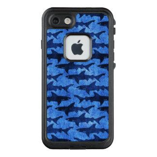 Funda FRÄ' De LifeProof Para iPhone 7 Océano divertido del azul del ataque del tiburón