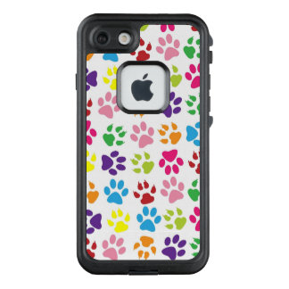 Funda FRÄ' De LifeProof Para iPhone 7 Patas coloridas de los mascotas