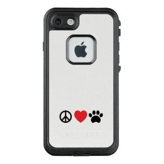 Funda FRÄ' De LifeProof Para iPhone 7 Paz, amor, pata
