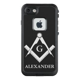 Funda FRÄ' De LifeProof Para iPhone 7 Personalizado blanco y negro clásico del Freemason