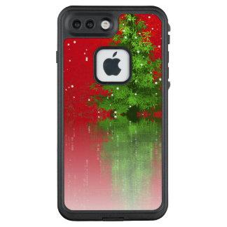 Funda FRÄ' De LifeProof Para iPhone 7 Plus Árbol de navidad en una caja roja del teléfono del