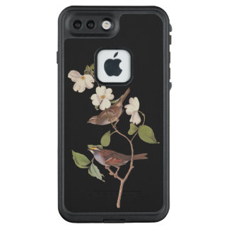 Funda FRÄ' De LifeProof Para iPhone 7 Plus Arte Throated blanco de Audubon del vintage del