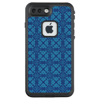 Funda FRÄ' De LifeProof Para iPhone 7 Plus Azul en Patttern geométrico floral azul