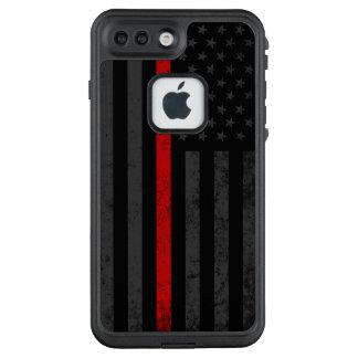 Funda FRÄ' De LifeProof Para iPhone 7 Plus Bandera apenada oscuridad del bombero