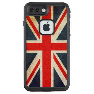 Funda FRÄ' De LifeProof Para iPhone 7 Plus BANDERA de Union Jack Reino Unido del Grunge del