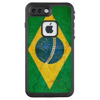 Funda FRÄ' De LifeProof Para iPhone 7 Plus Bandera del Brasil del Grunge del vintage