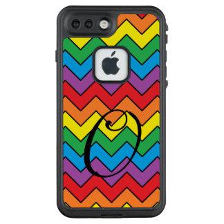 Funda FRÄ' De LifeProof Para iPhone 7 Plus Caja del teléfono de Chevron del arco iris del