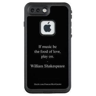 Funda FRÄ' De LifeProof Para iPhone 7 Plus Cita de William Shakespeare - amor