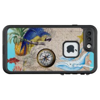 Funda FRÄ' De LifeProof Para iPhone 7 Plus Collage azul tropical