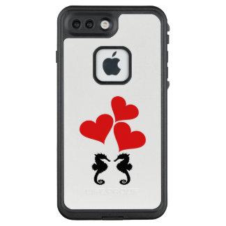 Funda FRÄ' De LifeProof Para iPhone 7 Plus Corazones y Seahorse