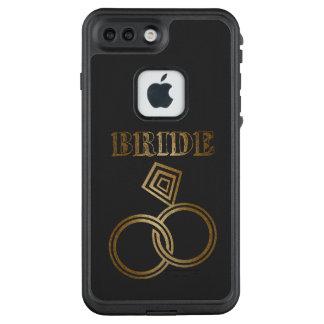 Funda FRÄ' De LifeProof Para iPhone 7 Plus El oro ligado suena el boda de la novia
