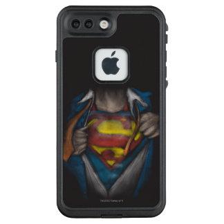 Funda FRÄ' De LifeProof Para iPhone 7 Plus El pecho del superhombre el   revela el bosquejo