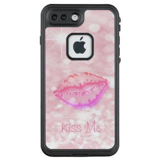 Funda FRÄ' De LifeProof Para iPhone 7 Plus Femenino de moda fresco, reluciente, Bokeh, labios