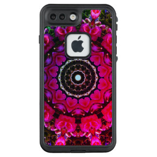 Funda FRÄ' De LifeProof Para iPhone 7 Plus Flor-Mandala, flores rojos