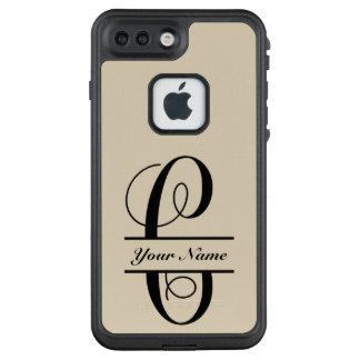 Funda FRÄ' De LifeProof Para iPhone 7 Plus Letra C, fuente de la vid, monograma partido de la