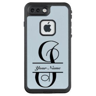 Funda FRÄ' De LifeProof Para iPhone 7 Plus Letra I, monograma partido de la letra de la