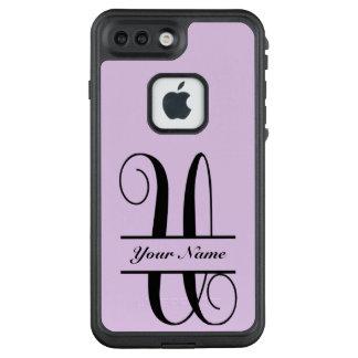 Funda FRÄ' De LifeProof Para iPhone 7 Plus Letra U, monograma partido de la letra de la