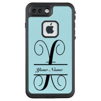 Funda FRÄ' De LifeProof Para iPhone 7 Plus Letra X, monograma partido de la letra de la