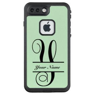 Funda FRÄ' De LifeProof Para iPhone 7 Plus Letra Y, monograma partido de la letra de la