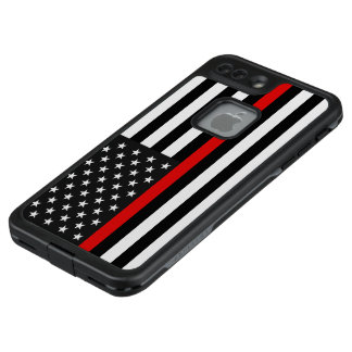 Funda FRÄ' De LifeProof Para iPhone 7 Plus Línea roja fina bandera americana