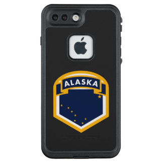 Funda FRÄ' De LifeProof Para iPhone 7 Plus Logotipo de la bandera del estado de Alaska AK