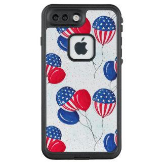 Funda FRÄ' De LifeProof Para iPhone 7 Plus Los E.E.U.U. bandera globo americano 4 de julio