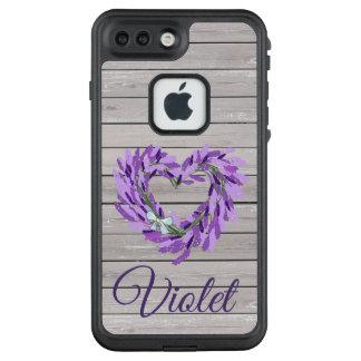 Funda FRÄ' De LifeProof Para iPhone 7 Plus Madera rústica con la caja floral púrpura de