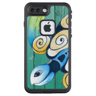 Funda FRÄ' De LifeProof Para iPhone 7 Plus madera verde de la tortuga