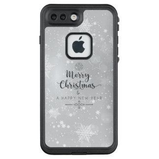 Funda FRÄ' De LifeProof Para iPhone 7 Plus Navidad y caja de plata elegantes del teléfono del