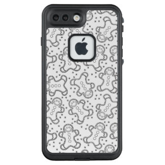 Funda FRÄ' De LifeProof Para iPhone 7 Plus Panes de jengibre blancos y negros lindos del