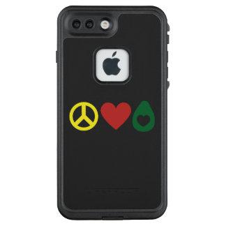 Funda FRÄ' De LifeProof Para iPhone 7 Plus Paz, caso de LifeProof del aguacate del amor