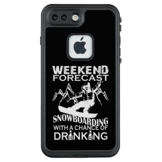 FUNDA FRÄ' DE LifeProof  PARA iPhone 7 PLUS SNOWBOARD DEL PRONÓSTICO DEL FIN DE SEMANA