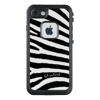 Funda FRÄ' De LifeProof Para iPhone 7 Rayas del modelo de la cebra, negras y blancas, su