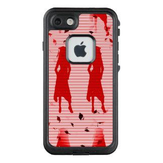 Funda FRÄ' De LifeProof Para iPhone 7 Remolino rayado rojo de los chicas del graduado
