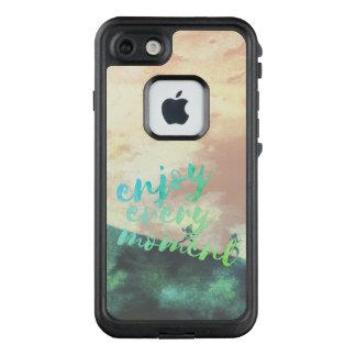Funda FRÄ' De LifeProof Para iPhone 7 Tipografía corriente que activa de la acuarela