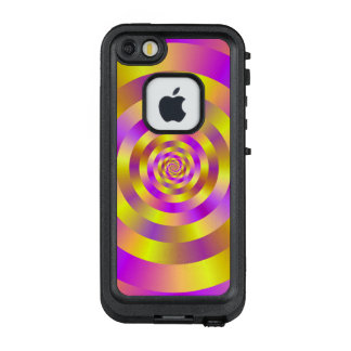 Funda FRÄ' De LifeProof Para iPhone SE/5/5s Anillos espirales amarillos y rosados