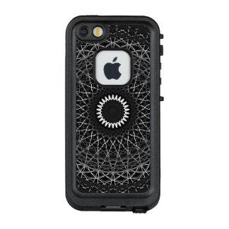 Funda FRÄ' De LifeProof Para iPhone SE/5/5s Línea blanca compleja rueda de color de la
