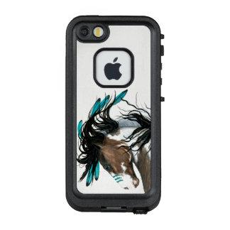 Funda FRÄ' De LifeProof Para iPhone SE/5/5s Plumas majestuosas del trullo del caballo por