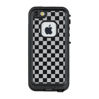 Funda FRÄ' De LifeProof Para iPhone SE/5/5s Tablero de damas gris claro