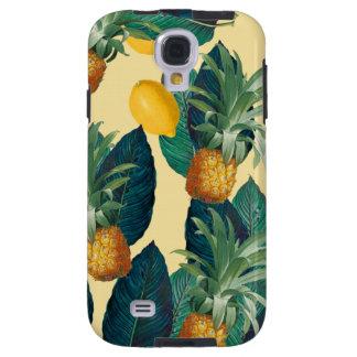 Funda Galaxy S4 amarillo de los limones de la piña