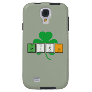 Funda Galaxy S4 Elemento químico Zz37b del cloverleaf irlandés