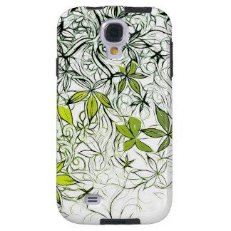 Funda Galaxy S4 Fondo floral moderno 234
