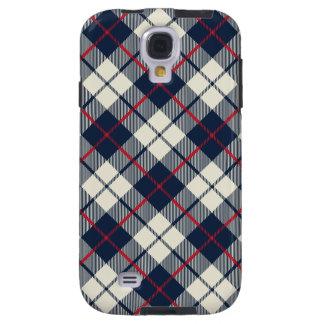Funda Galaxy S4 Modelo de la tela escocesa de los azules marinos