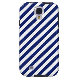 Funda Galaxy S4 Modelo diagonal del azul marino y blanco de las