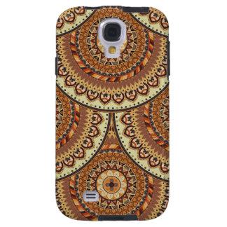 Funda Galaxy S4 Modelo floral étnico abstracto colorido de la