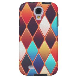 Funda Galaxy S4 Mosaico anaranjado del diamante